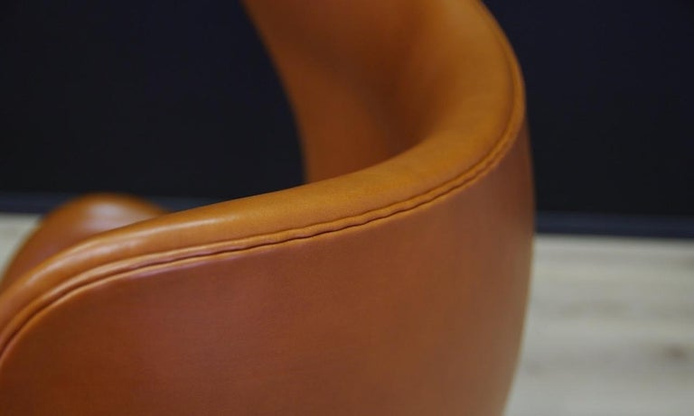 Metal Arne Jacobsen the Egg Chair Elegance Leather Retro For Sale