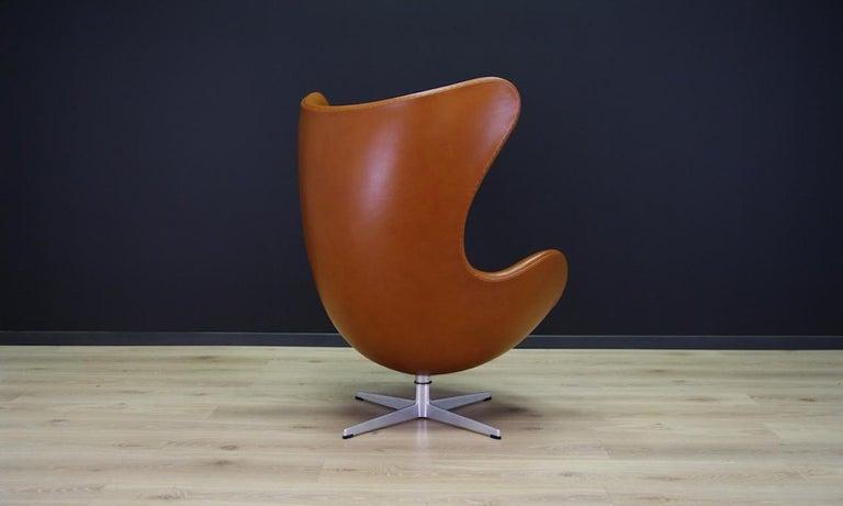 Arne Jacobsen the Egg Chair Elegance Leather Retro For Sale 1