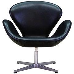 Arne Jacobsen the Swan Elegance Leather Retro