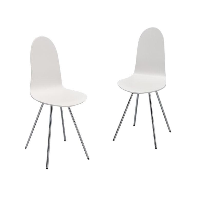 Arne Jacobsen Tongue Chairs Fritz Hansen, 1970s