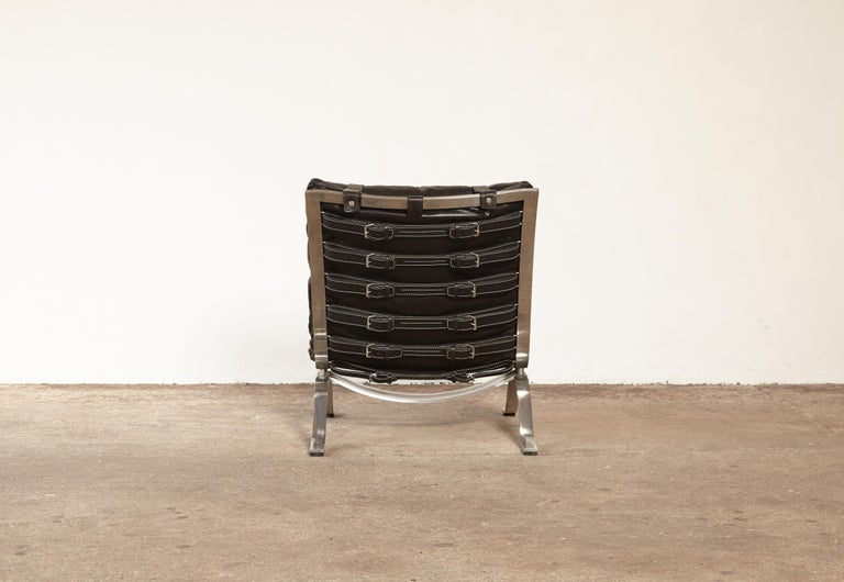 Steel Arne Norell Ari Lounge Chair, 1970s, Sweden