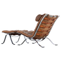 Arne Norell, Ari Lounge Chair and Ottoman, 1966 or Norell Möbel, Aneby, Sweden