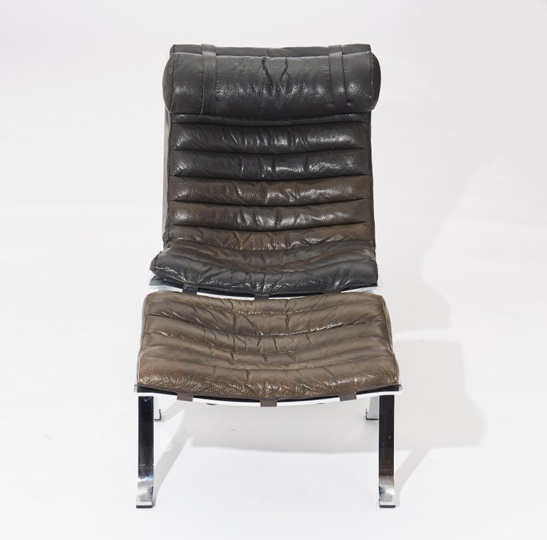 Swedish Arne Norell Ari Lounge Chair and Ottoman, 1970s, Sweden