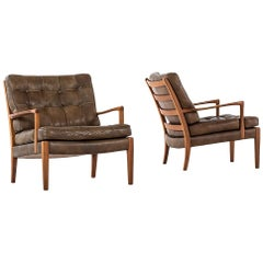 Arne Norell Easy Chairs Model Löven by Arne Norell AB in Sweden