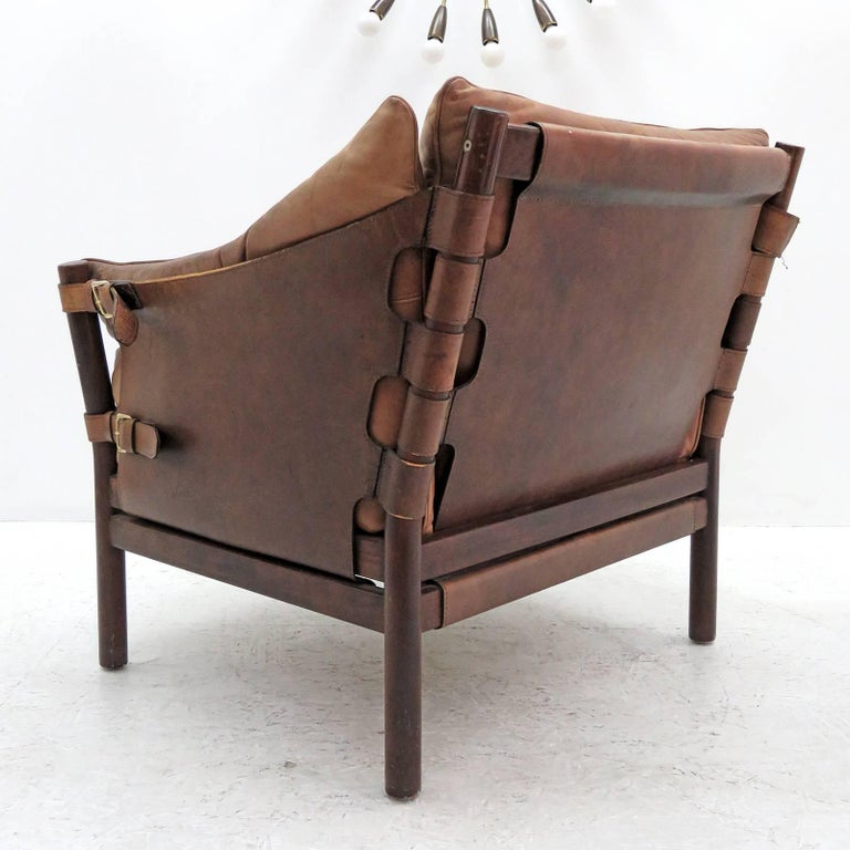 Arne Norell Leather Lounge Chairs Model 'Ilona' In Excellent Condition For Sale In Los Angeles, CA