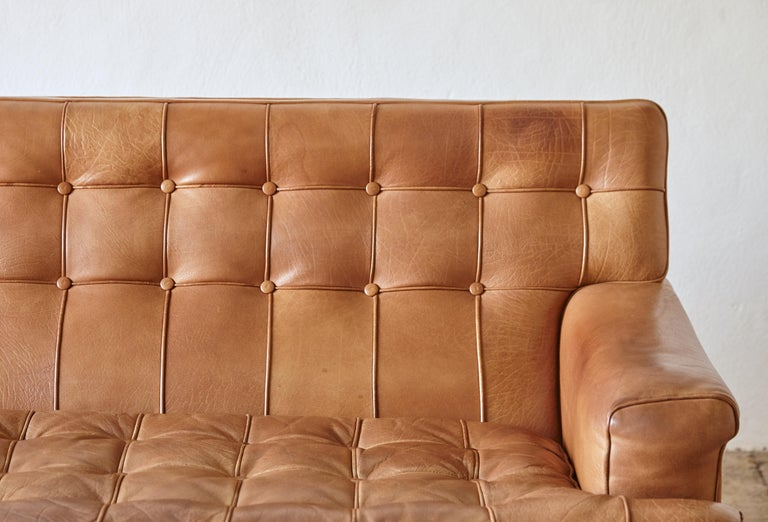 Arne Norell Leather Merkur / Mexico Sofa, Sweden, Norell Mobel, 1970s For Sale 5