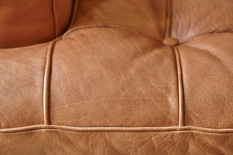 Arne Norell Leather Merkur / Mexico Sofa, Sweden, Norell Mobel, 1970s For Sale 7