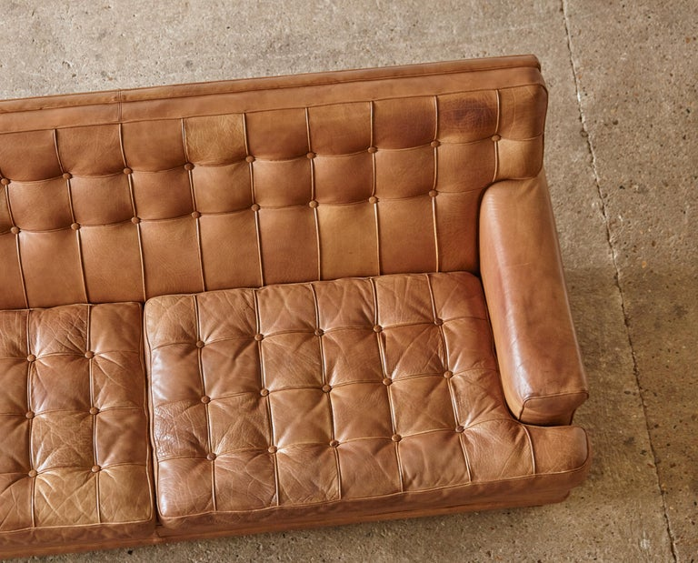 Arne Norell Leather Merkur / Mexico Sofa, Sweden, Norell Mobel, 1970s For Sale 10