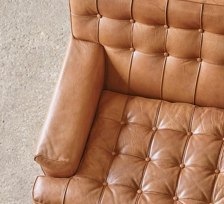 Arne Norell Leather Merkur / Mexico Sofa, Sweden, Norell Mobel, 1970s For Sale 11