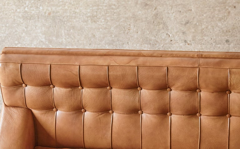 Arne Norell Leather Merkur / Mexico Sofa, Sweden, Norell Mobel, 1970s For Sale 13