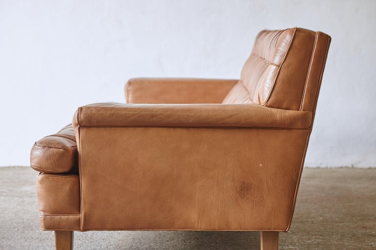 Arne Norell Leather Merkur / Mexico Sofa, Sweden, Norell Mobel, 1970s In Good Condition For Sale In London, GB