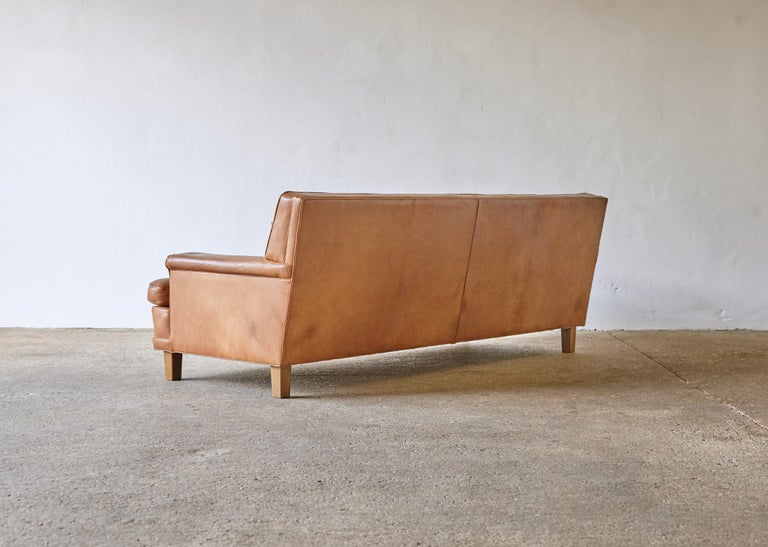 20th Century Arne Norell Leather Merkur / Mexico Sofa, Sweden, Norell Mobel, 1970s For Sale