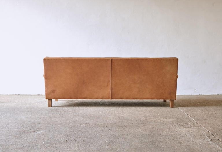 Arne Norell Leather Merkur / Mexico Sofa, Sweden, Norell Mobel, 1970s For Sale 1