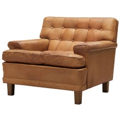 Arne Norell Lounge Chair in Cognac Leather