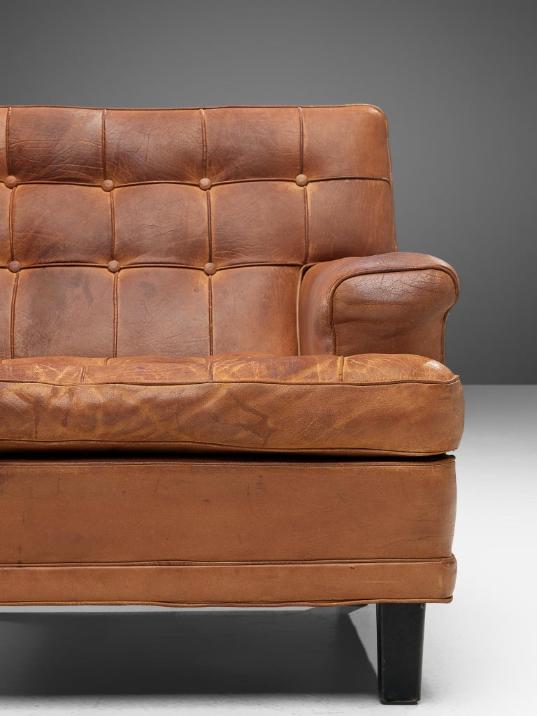 20th Century Special listing for M: Arne Norell Lounge Chairs in Cognac Leather