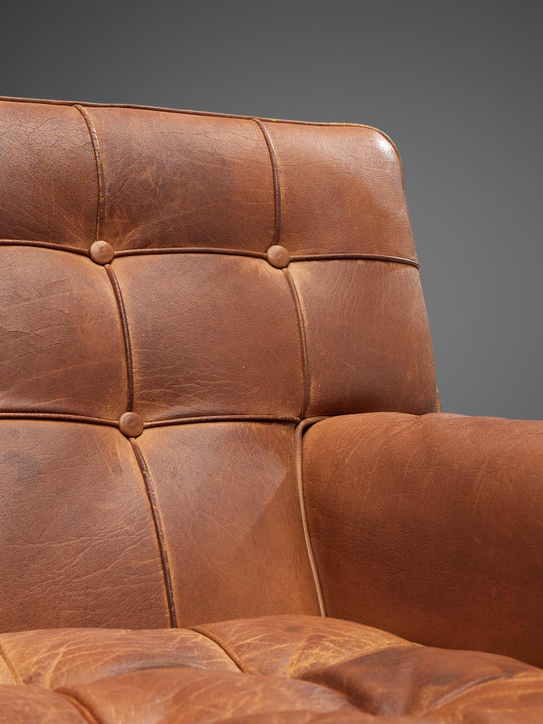 Special listing for M: Arne Norell Lounge Chairs in Cognac Leather 1