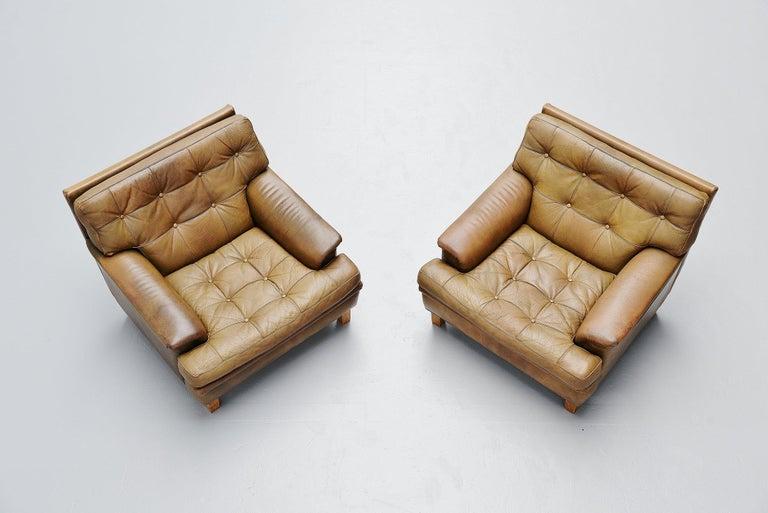 Scandinavian Modern Arne Norell Merkur Lounge Chairs AB, Sweden, 1960 For Sale
