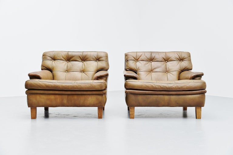 Arne Norell Merkur Lounge Chairs AB, Sweden, 1960 In Good Condition For Sale In Roosendaal, Noord Brabant