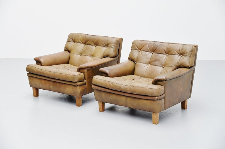 Mid-20th Century Arne Norell Merkur Lounge Chairs AB, Sweden, 1960 For Sale