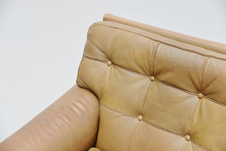 Leather Arne Norell Merkur Lounge Chairs AB, Sweden, 1960 For Sale