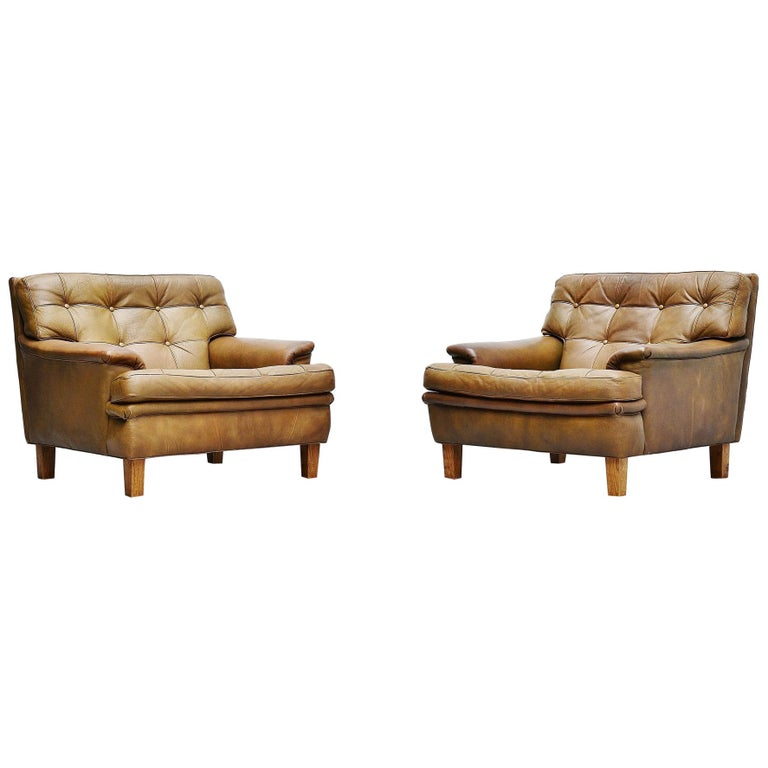 Arne Norell Merkur Lounge Chairs AB, Sweden, 1960 For Sale
