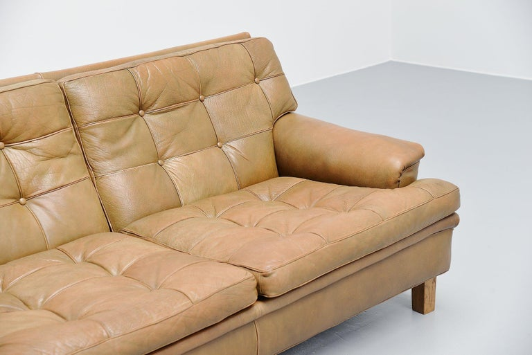 Swedish Arne Norell Merkur Two-Seat Sofa AB, Sweden, 1960 For Sale