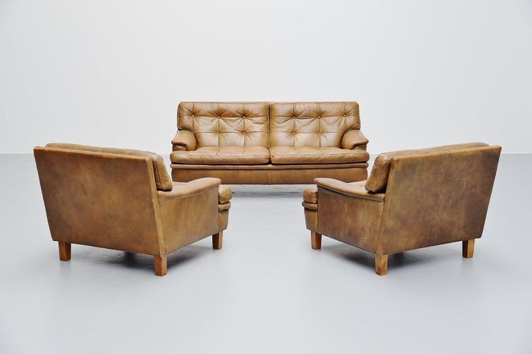 Leather Arne Norell Merkur Two-Seat Sofa AB, Sweden, 1960 For Sale