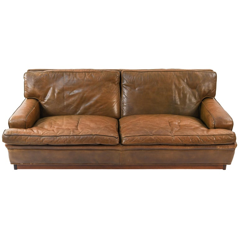 Arne Norell Quot Mexico Quot Leather Sofa For Sale At 1stdibs