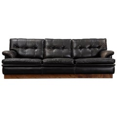 Arne Norell 'Mexico' Sofa in Black Leather