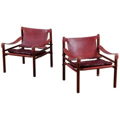 Arne Norell Sirocco Safari Chairs, 1960s