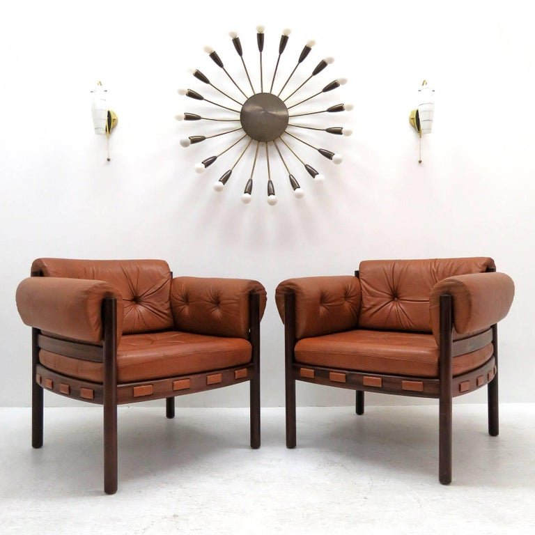 Arne Norell Rosewood Lounge Chairs for Coja Culemborg For Sale 3