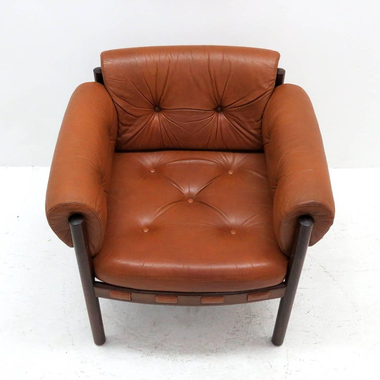 Scandinavian Modern Arne Norell Rosewood Lounge Chairs for Coja Culemborg For Sale