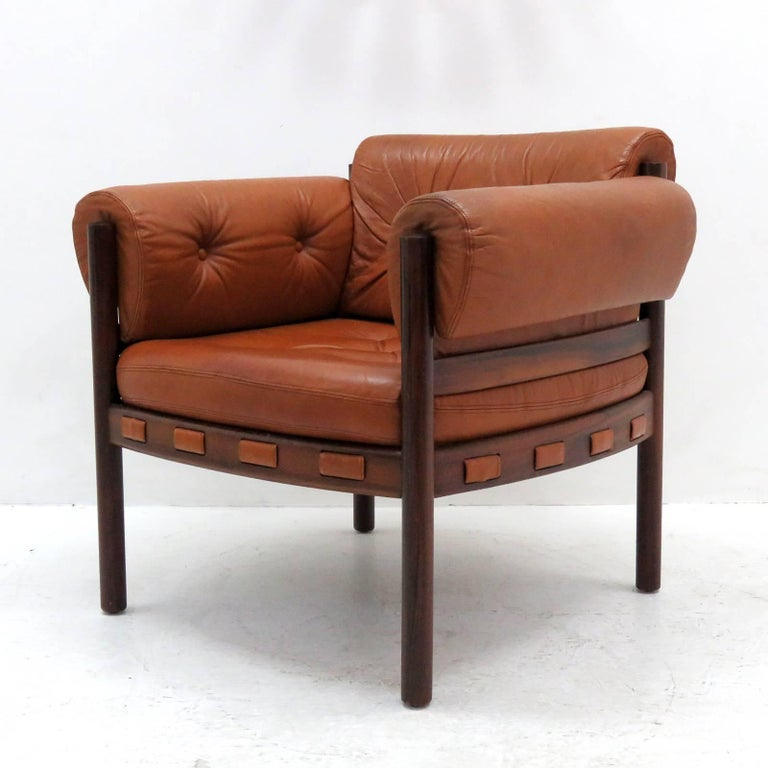 Swedish Arne Norell Rosewood Lounge Chairs for Coja Culemborg For Sale