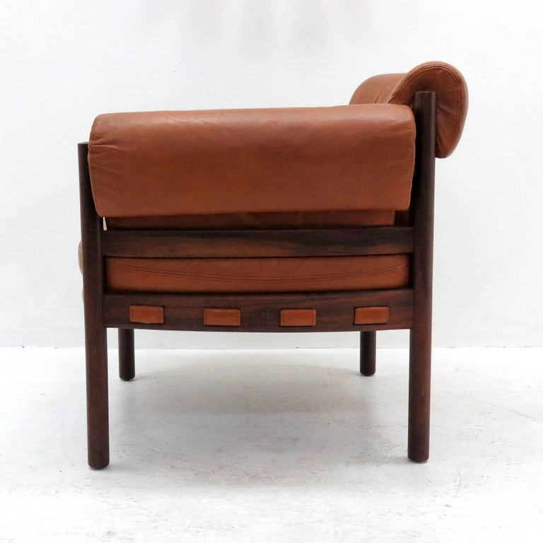 Arne Norell Rosewood Lounge Chairs for Coja Culemborg In Excellent Condition For Sale In Los Angeles, CA