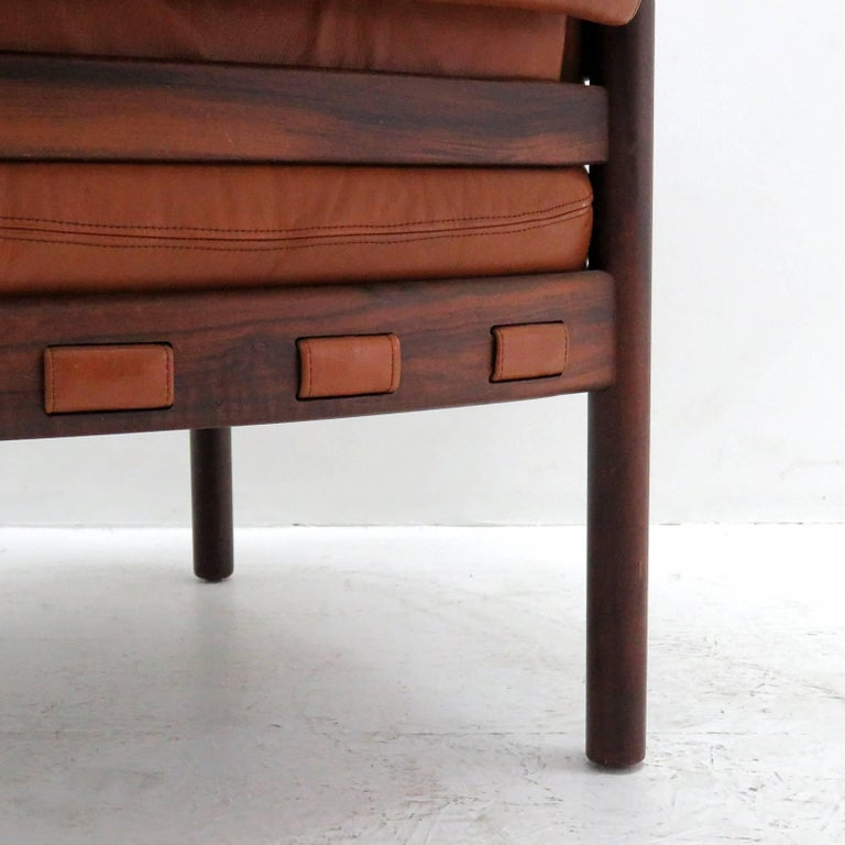 Arne Norell Rosewood Lounge Chairs for Coja Culemborg For Sale 1