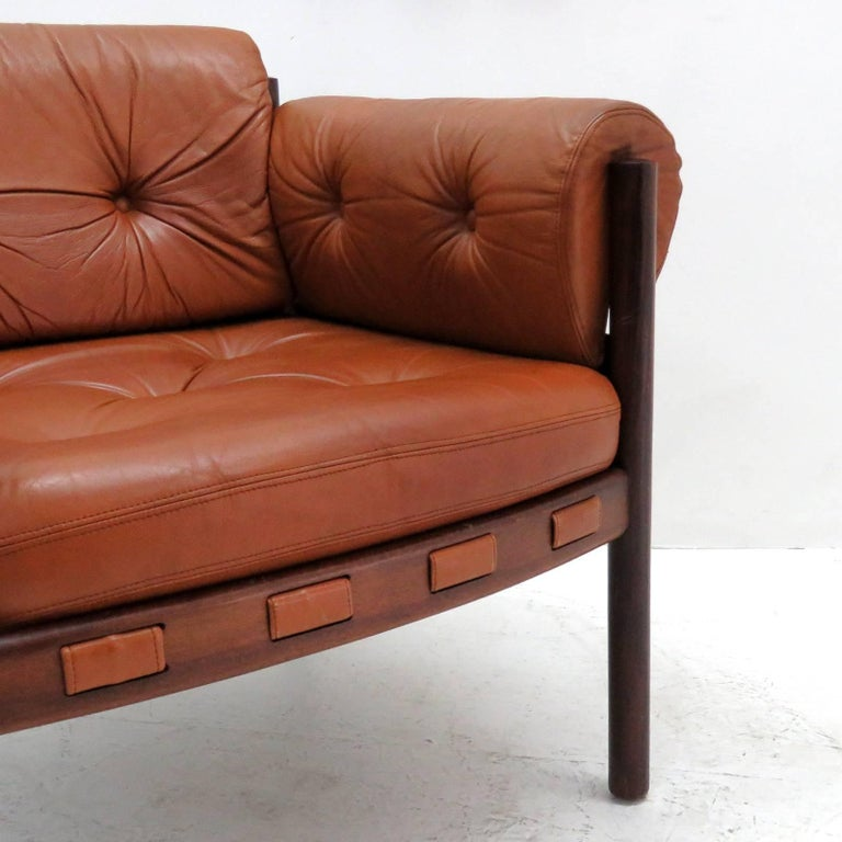 Arne Norell Rosewood Lounge Chairs for Coja Culemborg For Sale 2