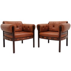 Arne Norell Rosewood Lounge Chairs for Coja Culemborg