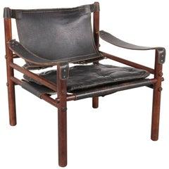 "Arne Norell Safari Chair Model ""Sirocco"", Sweden, 1960"