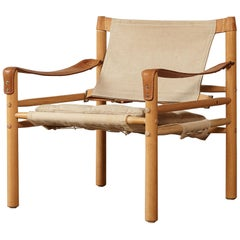 Arne Norell Safari Sirocco Lounge Chair, Norell Mobel, Sweden, 1970s