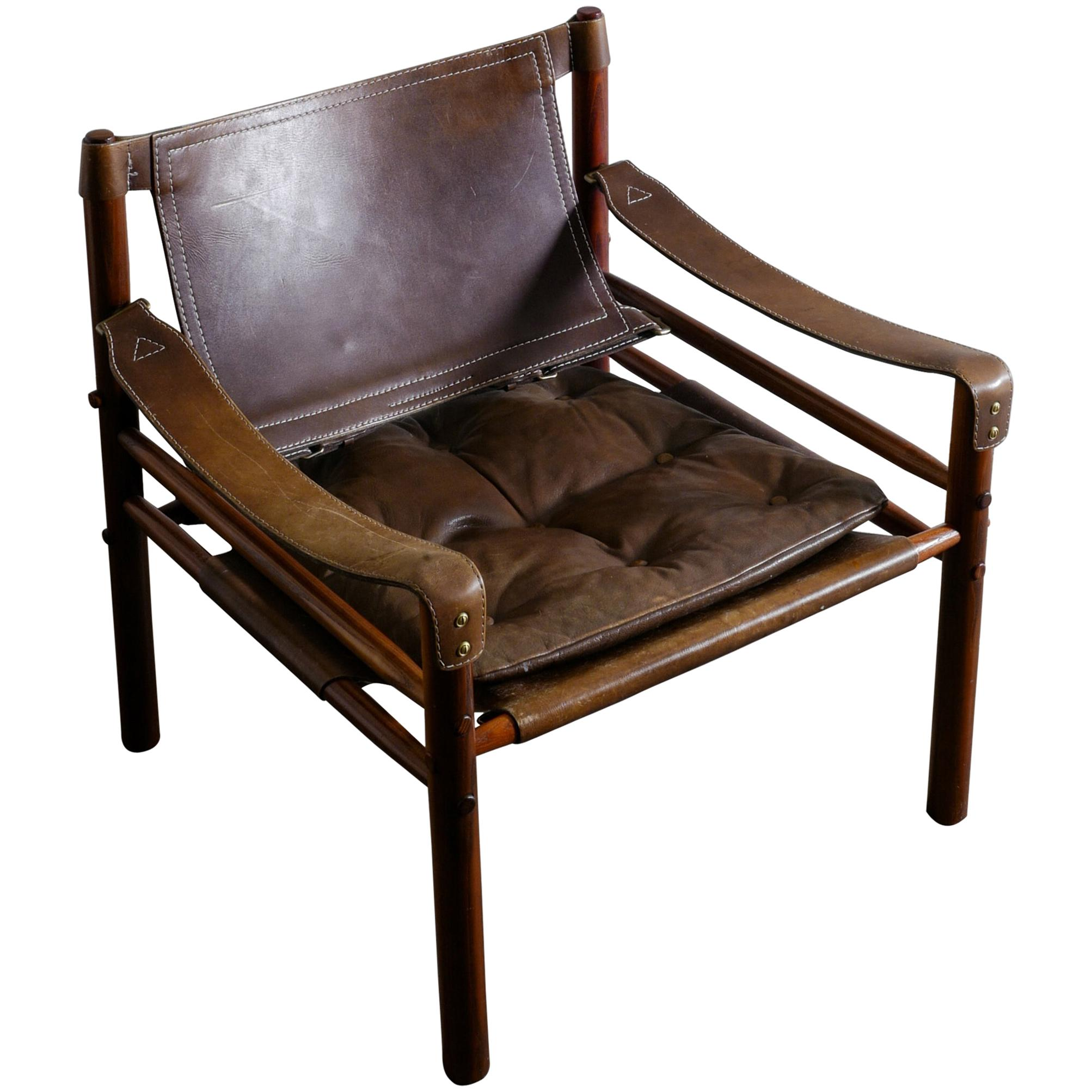 """Arne Norell """"Sirocco"""" Easy Chair Safari Style, Sweden, 1960s"""