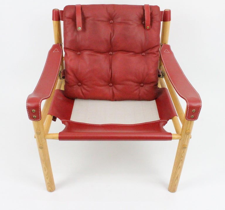 Arne Norell Sirocco Safari Chairs by Norells in Sweden For Sale 12