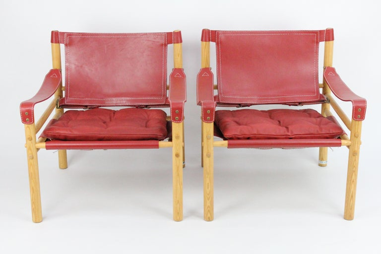 Mid-Century Modern Arne Norell Sirocco Safari Chairs by Norells in Sweden For Sale