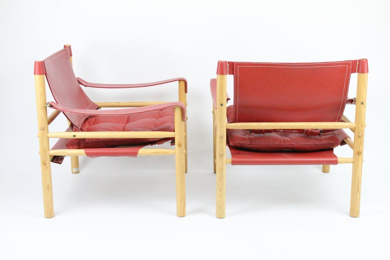 Swedish Arne Norell Sirocco Safari Chairs by Norells in Sweden For Sale