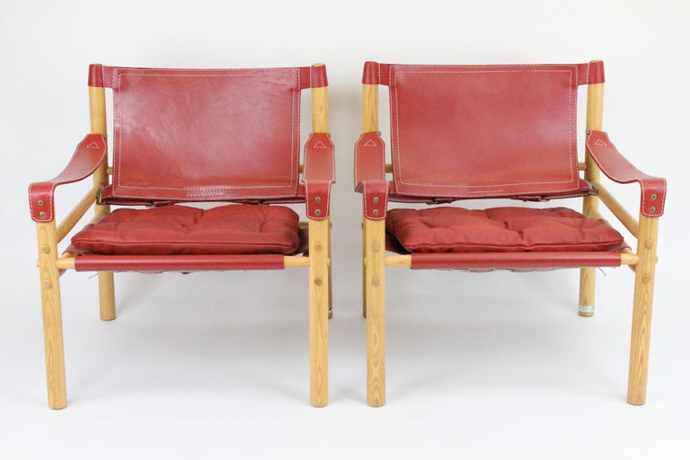 Arne Norell Sirocco Safari Chairs by Norells in Sweden In Excellent Condition For Sale In Skanninge, SE