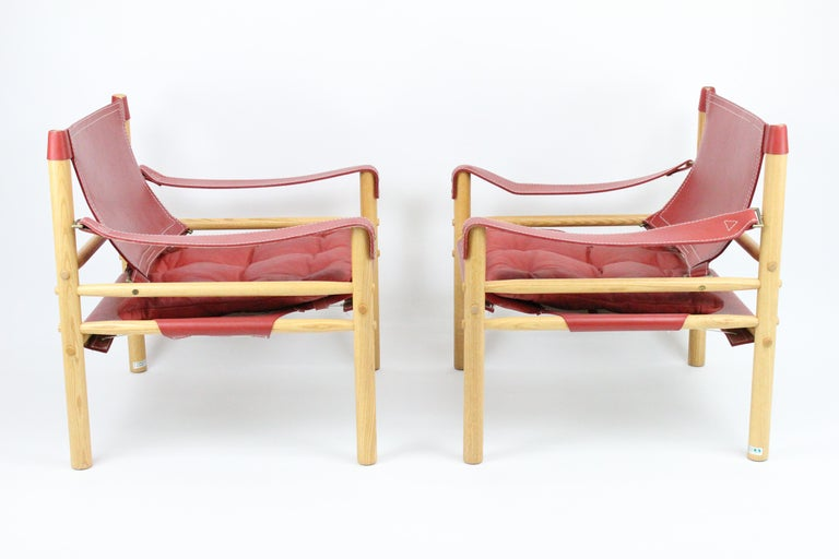 20th Century Arne Norell Sirocco Safari Chairs by Norells in Sweden For Sale