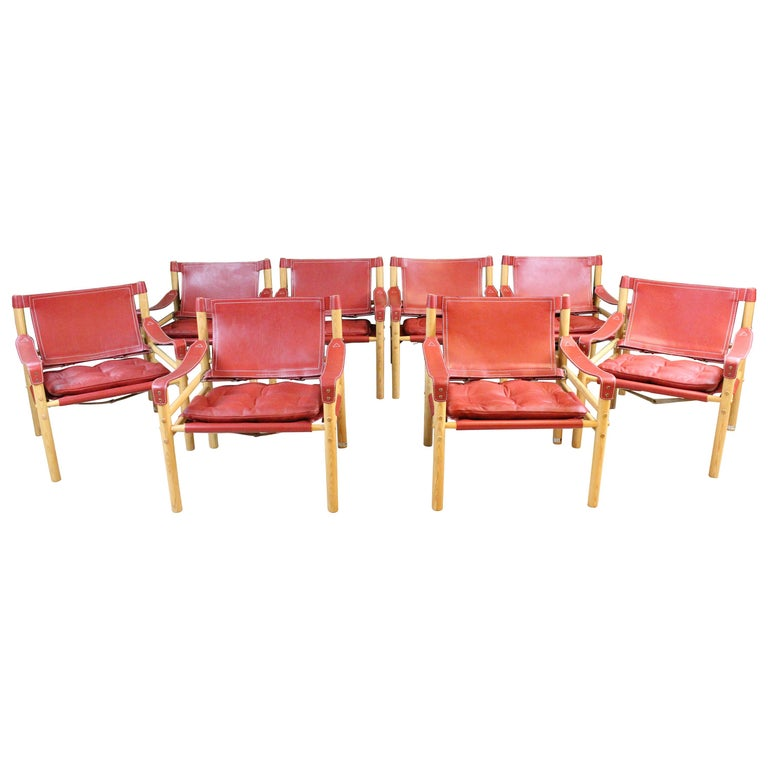 Arne Norell Sirocco Safari Chairs by Norells in Sweden For Sale