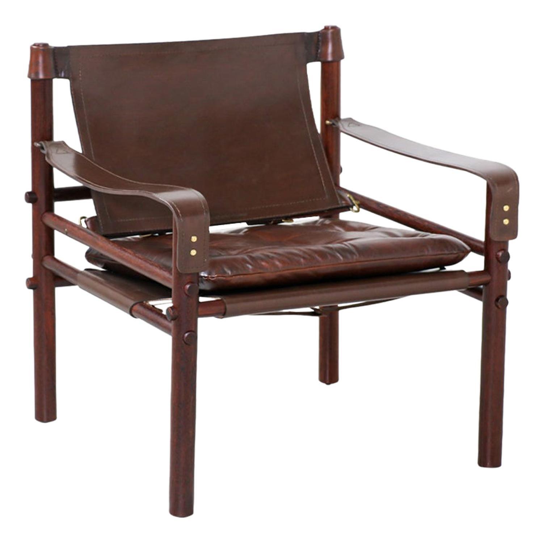 "Arne Norell ""Sirocco"" Safari Leather Lounge Chair"