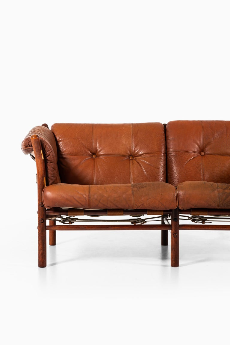 Sofa model Indra designed by Arne Norell. Produced by Arne Norell AB in Aneby, Sweden.
