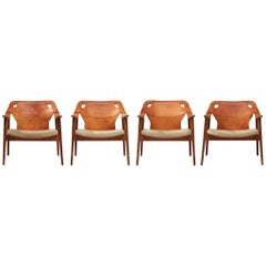 Arne Tidemand Ruud Armchairs Model '3050'
