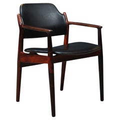 Arne Vodder 62A Chair, Rosewood and Original Leather